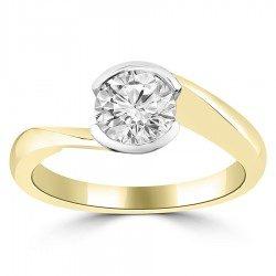 Half Bezel round ring