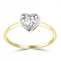 Heart bezel ring