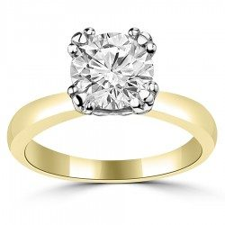 Triple round prong Fiona Solitaire