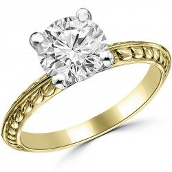 Leave filigree ring