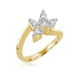 Five pear ring