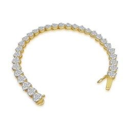 Trillion Shape Tennis Bracelet