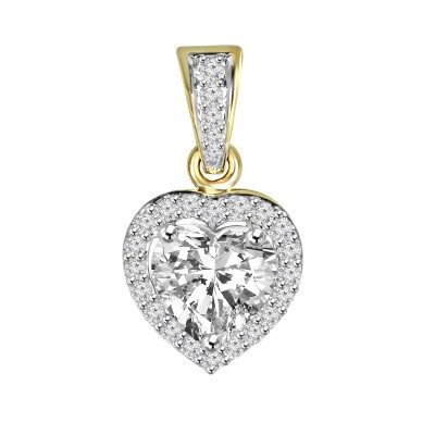 Valentine with Diamond rim Pendant