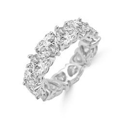 Heart Shape Eternity Band