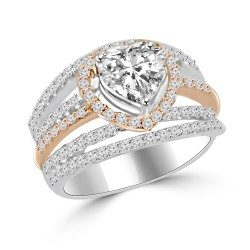 Heart Shape thick band ring