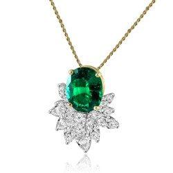 Green cluster pendant