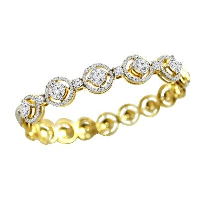Round with rim of Diamonds Bracelet