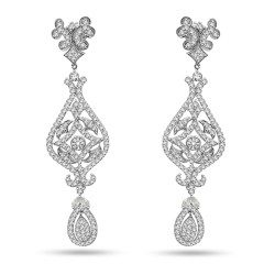 Bridal Long Diamond Danglers