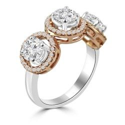 Rose Gold Three Stone Ring