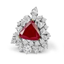 Red triangle ring