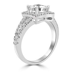 Square Shape Moissanite Ring