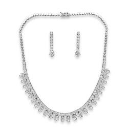 Fancy Shape Necklace Set with Earring