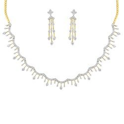 Gold Necklace Set with Earring