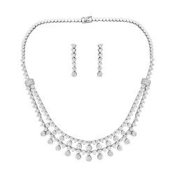 Elegant Necklace Set with Earring