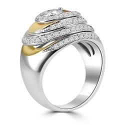 Spiral in dome ring