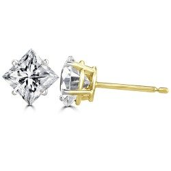 Side prong princess ear studs