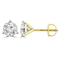 Three prong round solitaire