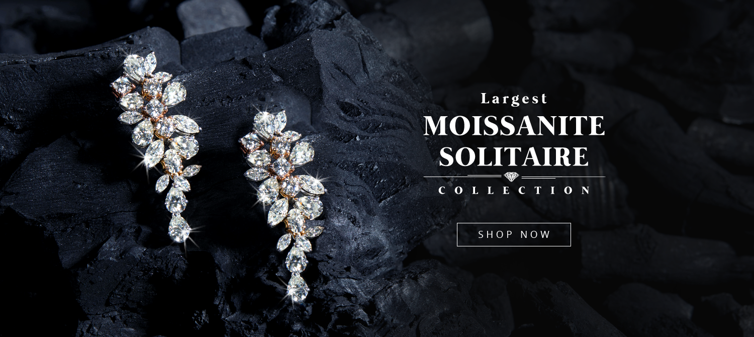 Largest Moissanite Solitaire Collection