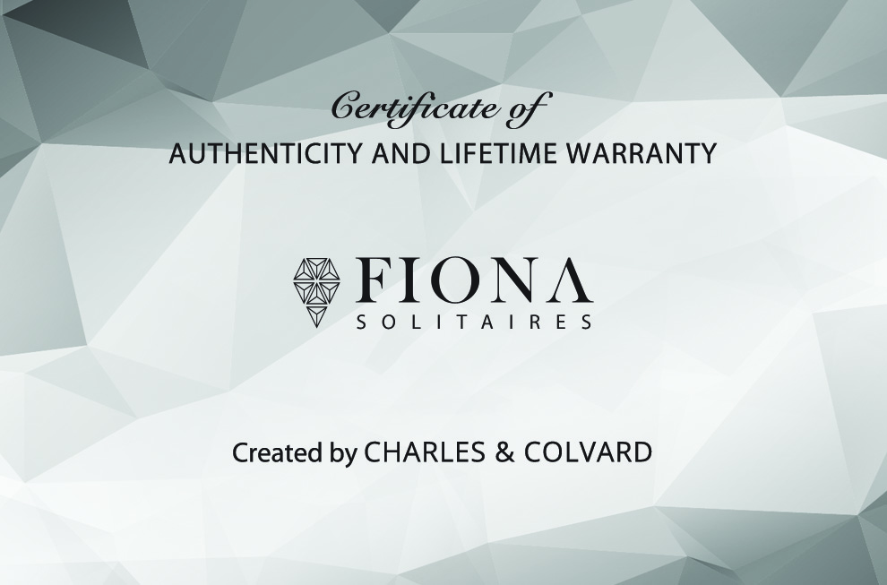 Fiona Moissanite Certificate